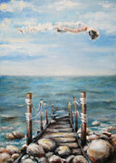 Motivational Painting Originals - Calm by Tatiana Ivchenkova