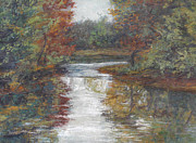 Gregory Arnett Paintings - Calm Waters - October by Gregory Arnett