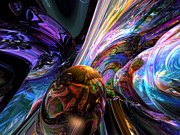 Mystery Digital Art - Calming Madness Abstract by Alexander Butler
