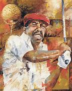 Sports Art Painting Posters - Calvin Peete Poster by Christiaan Bekker
