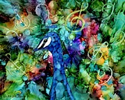 Peacock Metal Prints - Calypso Metal Print by Karen Walker