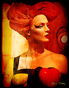 Hairstyle Mixed Media Posters - Calypso Mama Poster by Chuck Staley