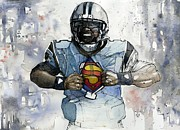 Quarterback Metal Prints - Cam Kent Metal Print by Michael  Pattison