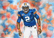 Newton Drawings - Cam Newton - UGA by Lance Curry