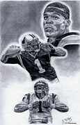 Newton Drawings - Cam Newton by Jonathan Tooley