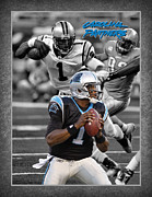 Cam Posters - Cam Newton Panthers Poster by Joe Hamilton