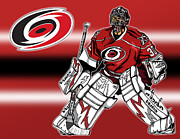 Cam Ward - Carolina Hurricanes Print by Nate Gandt