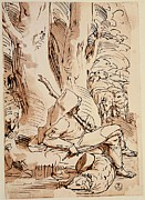 Tree Roots Prints - Cambiaso Luca, Shepherd Resting, 16th Print by Everett