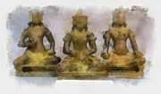 Teara Na Metal Prints - Cambodia Antique Temple Metal Print by Teara Na