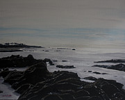 Cambria Paintings - Cambria Tidal Pools by Ian Donley