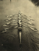 18-19 Years Prints - Cambridge Crewmen Print by Underwood Archives