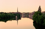 Cambridge Metal Prints - Cambridge Golden Glow Metal Print by Michael Swanson
