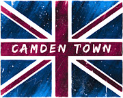 London England  Digital Art - Camden Town Distressed Union Jack Flag by Mark E Tisdale