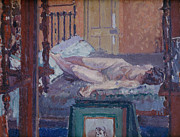 Girls Bedroom Paintings - Camden Town Nude by Spencer Frederick Gore