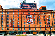 Baltimore Orioles Stadium Framed Prints - Camden Yards Framed Print by Bill Cannon