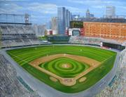 Baseball Fields Metal Prints - Camden Yards Metal Print by Laura Corebello