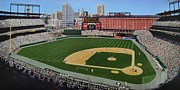 Sports Mural Pictures Paintings - Camden Yards Matenee by Thomas  Kolendra