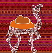 Camel Digital Art Originals - Camel.. Pride of Rajasthan by Atul Kumbhojkar