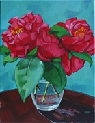 Camellia Paintings - Camellia Still Life by Annie Pierson