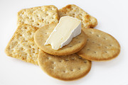 Cheese Photo Posters - Camembert Cheese and Crackers Poster by Colin and Linda McKie