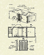 Photography Drawings - Camera 1887 Patent Art by Prior Art Design