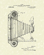 Photography Drawings Metal Prints - Camera 1920 Patent Art Metal Print by Prior Art Design