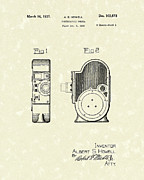 Camera Drawings Prints - Camera 1937 Patent Art Print by Prior Art Design