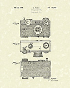 Camera Drawings Prints - Camera 1938 Patent Art Print by Prior Art Design