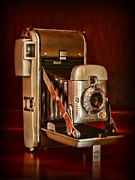 Polaroid Camera Framed Prints - Camera - vintage Polaroid Land Camera 80 Framed Print by Paul Ward