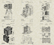 Technical Art Drawings Prints - Cameras Patent Collection Print by PatentsAsArt