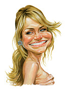 Celebrities Art - Cameron Diaz by Art