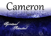 Mysteries Painting Posters - Cameron - Spiritual Potential Poster by Christopher Gaston