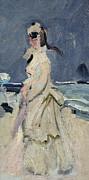 Claude Monet - Camille on the Beach