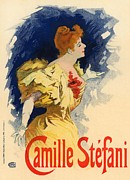 Paris Cafe Prints - Camille Stefani Print by Sanely Great