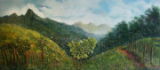 Sanchez Painting Prints - Camino hacia el cerro Trinidad Print by Ricardo Sanchez Beitia