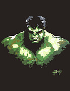 Hulk Painting Framed Prints - Camo Hulk Framed Print by Erik Pinto