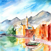 Camogli In Italy 11 Print by Miki De Goodaboom