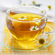 Serve Prints - Camomile tea Print by Elena Elisseeva
