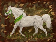 Drawing Drawings - Camouflage beauty Arabian by Lucka SR