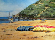 Paddles Paintings - Camp Del Corazon  by Lee Piper