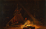 Famous Artists - Camp Fire by Winslow Homer
