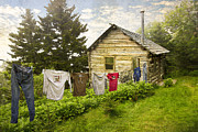Rustic Scene Prints - Camp LeConte Print by Debra and Dave Vanderlaan