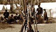 American Civil War Photos - Camp life by David Lee Thompson