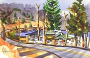 Road Travel Painting Posters - Camp Penuel at Lake Killarney Poster by Kip DeVore