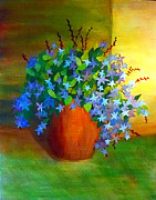 Periwinkle Originals - Campanula in Terra Cotta by Desiree Paquette