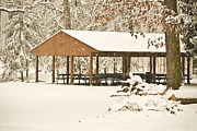 Berks County Prints - Campbell Pavilion Print by Trish Tritz