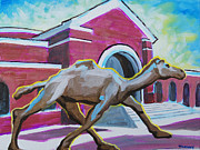 Mascot Painting Metal Prints - Campbell University camel Metal Print by Tommy Midyette