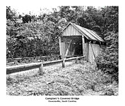Campbell's Covered Bridge - Architectural Renderings Detail Print by Andrew Wells