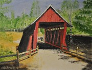 Covered Bridge Painting Metal Prints - Campbells Covered Bridge - South Carolina Metal Print by Jack McKenzie
