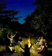 Haunting Digital Art - Campfire Story by Tom Straub